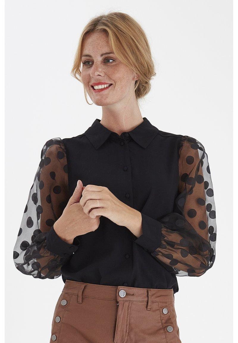 Fransa - FRNABURN - Button-down blouse - black