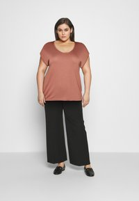 Pieces Curve - PCBILLO TEE SOLID - Basic T-shirt - canyon rose - 1