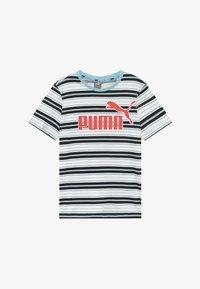 Puma - STRIPE LOGO TEE - Camiseta estampada - aquamarine - 2