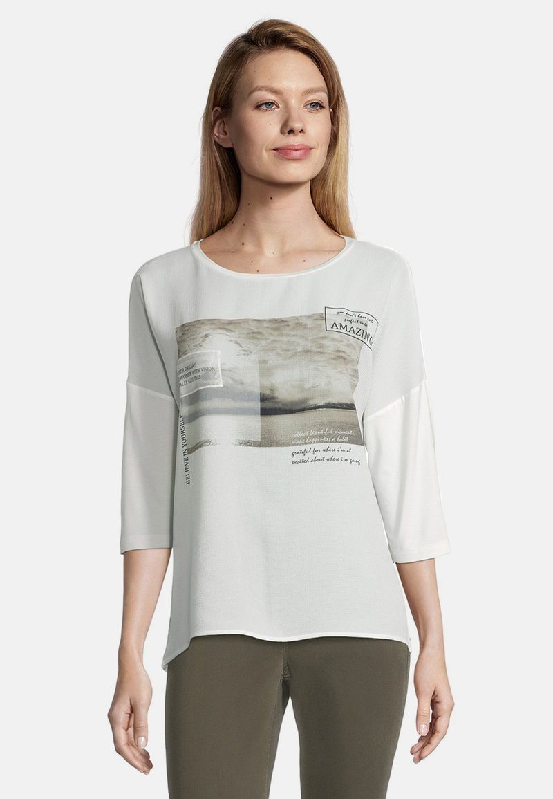 Cartoon - MIT AUFDRUCK - Long sleeved top - cream/nature