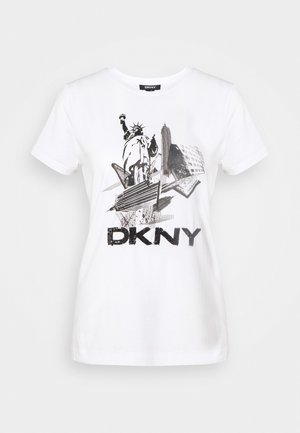 NEW YORK LOGO - T-shirt print - white