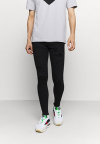 Gabba - ZIP DESTROY  - Jeans Skinny Fit - blak denim - 0