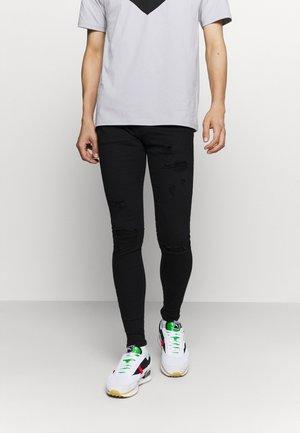 ZIP DESTROY  - Jeans Skinny - blak denim