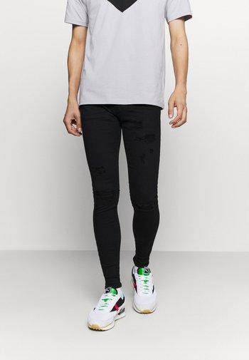ZIP DESTROY  - Jeans Skinny Fit - blak denim