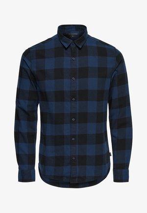 ONSGUDMUND CHECKED - Skjorta - dark blue, anthracite