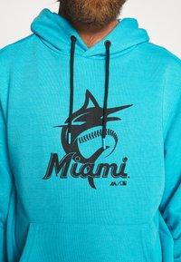 Fanatics - MLB MIAMI MARLINS HOODIE - Klubové oblečení - blue - 6