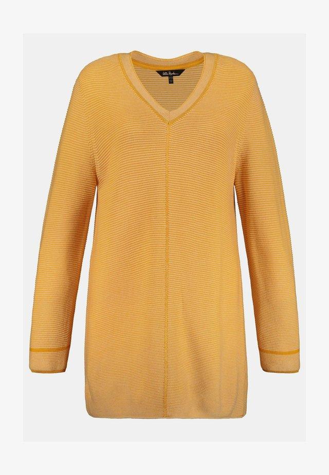 Sweatshirt - honiggelb