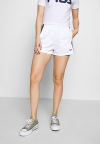 Fila Petite - TARIN HIGH WAIST PETITE - Shorts - bright white/black - 0