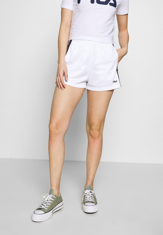 TARIN HIGH WAIST PETITE - Short - bright white/black