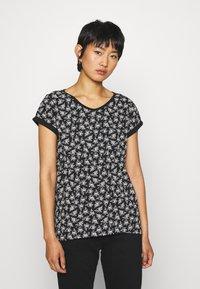 Esprit - CORE - Print T-shirt - black - 0