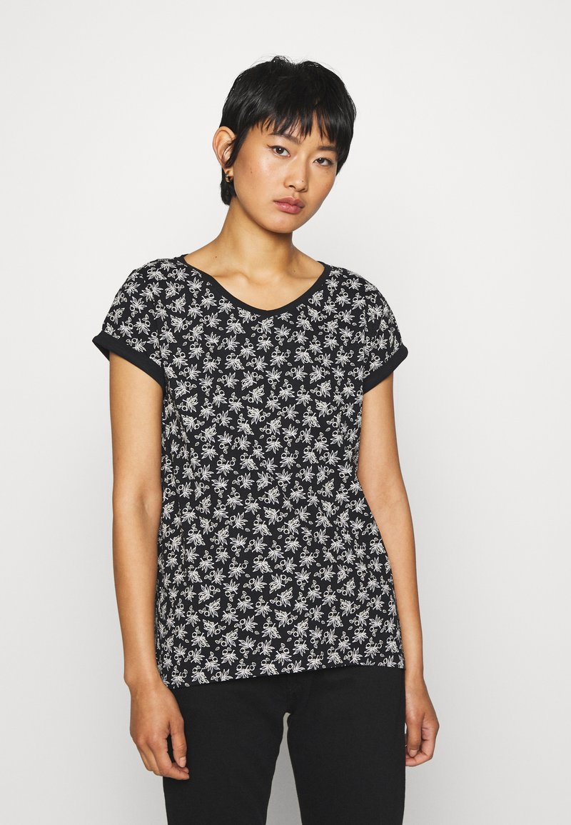 Esprit - CORE - Print T-shirt - black