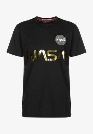 NASA REFLECTIVE TEE - Print T-shirt - black/gold