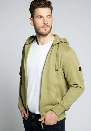 Sweater met rits - moselgrün