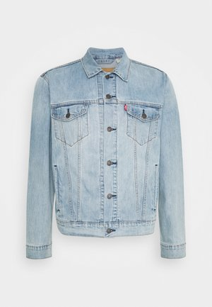 THE TRUCKER JACKET UNISEX - Spijkerjas - light indigo/worn in