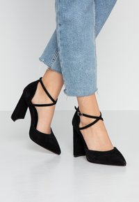 Topshop Wide Fit - WIDE FIT GRAPE FLARE - High heels - black - 0