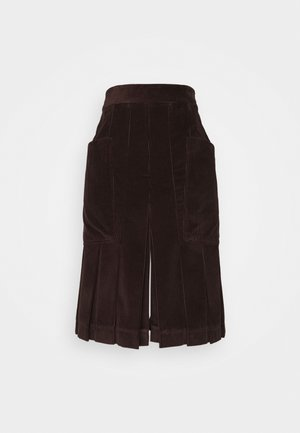 PLEAT FRONT CULOTTES - Kraťasy - brown