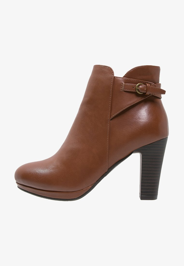 Anna Field - High heeled ankle boots - cognac