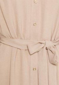 Dorothy Perkins - WOVEN MIDI DRESS PLAIN - Shirt dress - tan - 2
