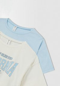 DeFacto - CROPPED FIT - Print T-shirt - blue - 7