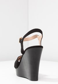 Dorothy Perkins - RADICAL STACKED 70S WEDGE - High heeled sandals - black - 5