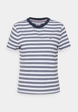 CLASSICS STRIPE TEE - T-shirt imprimé - white/navy