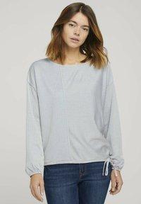 TOM TAILOR DENIM - Long sleeved top - mid blue white stripe - 0
