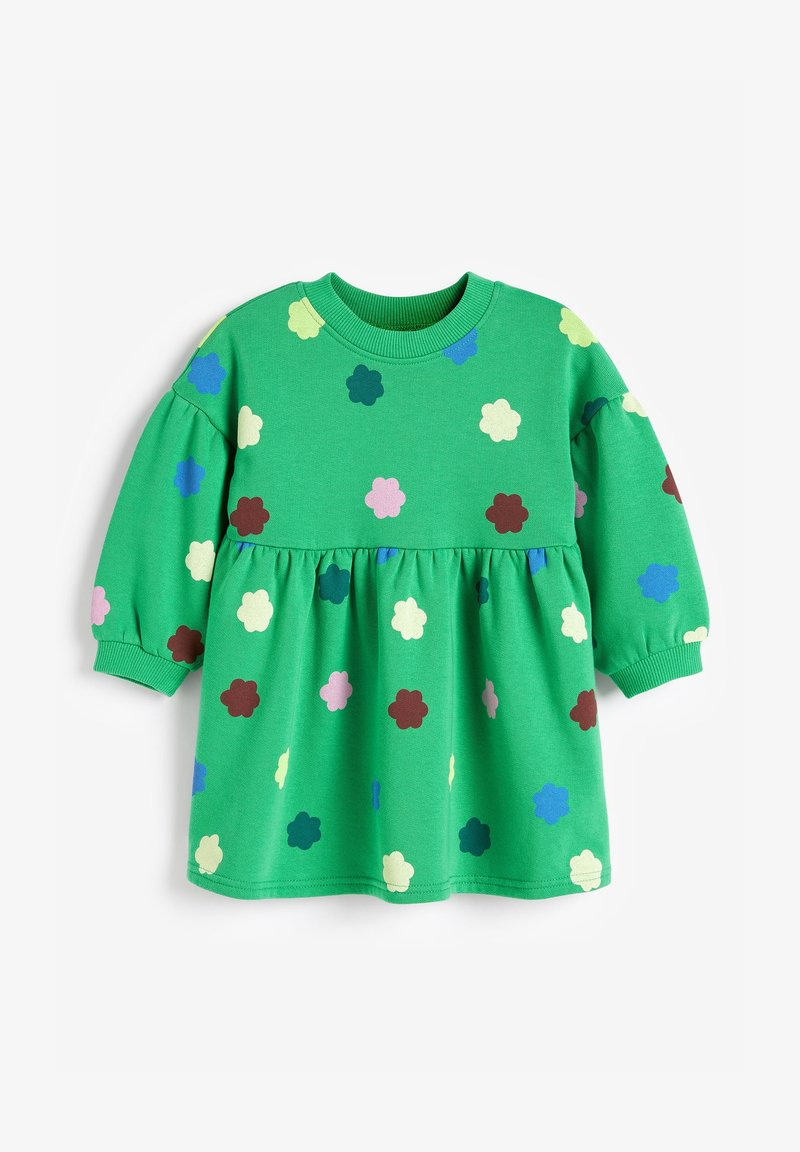 Next - BALLOON SLEEVE - Day dress - green