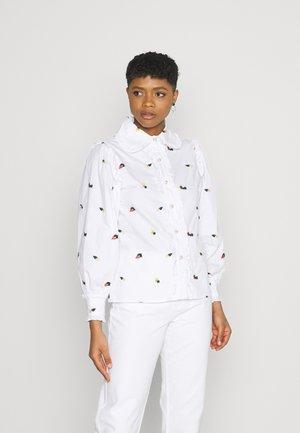 POSY EMBROIDERED RUFFLE BLOUSE - Overhemdblouse - white