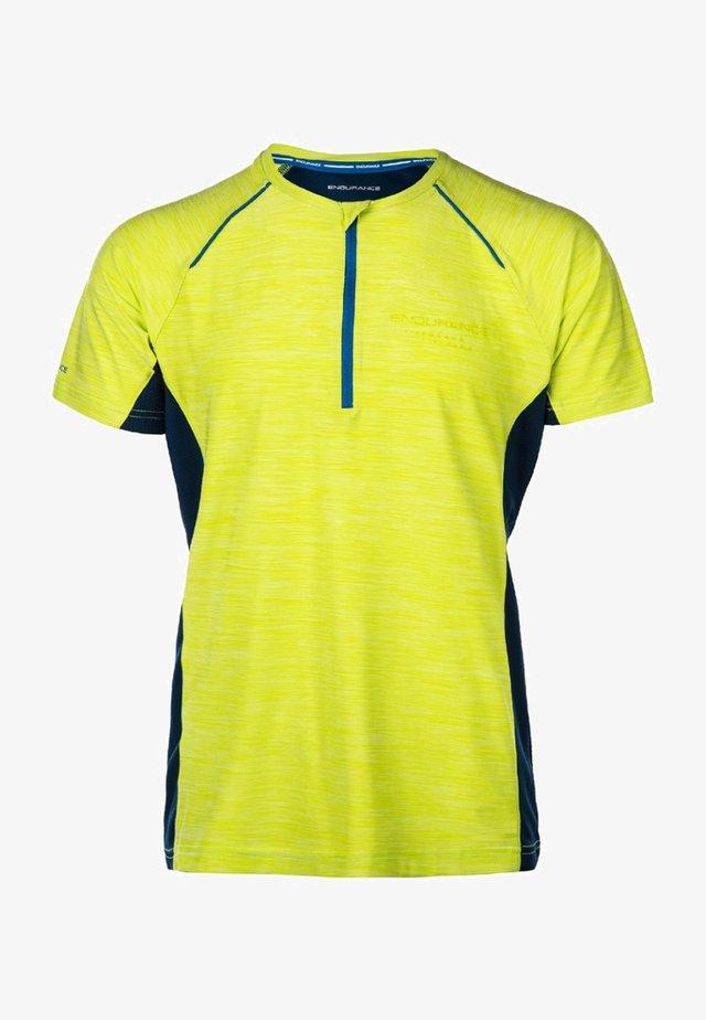 MIT WABEN-MESH - Print T-shirt - yellow