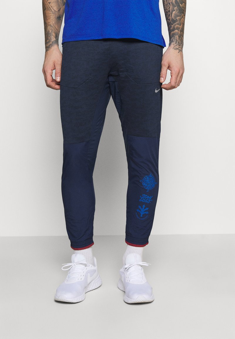 Nike Performance - ELITE PANT - Tracksuit bottoms - midnight navy/reflective silver