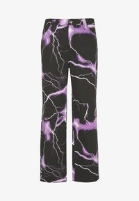 Jaded London - PURPLE LIGHTNING SKATE JEAN - Jeans baggy - black/purple - 0