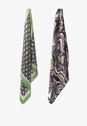 Ear warmers - green/multi-coloured
