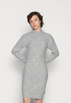 PCCANA HIGH NECK DRESS - Neulemekko - light grey melange