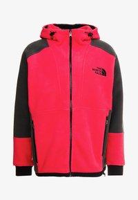 The North Face - RAGE CLASSIC HOODIE - Fleece jacket - rose red/asphalt grey - 3
