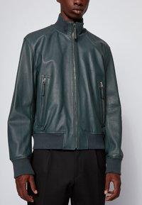 BOSS - NEOVEL - Leather jacket - light green - 4