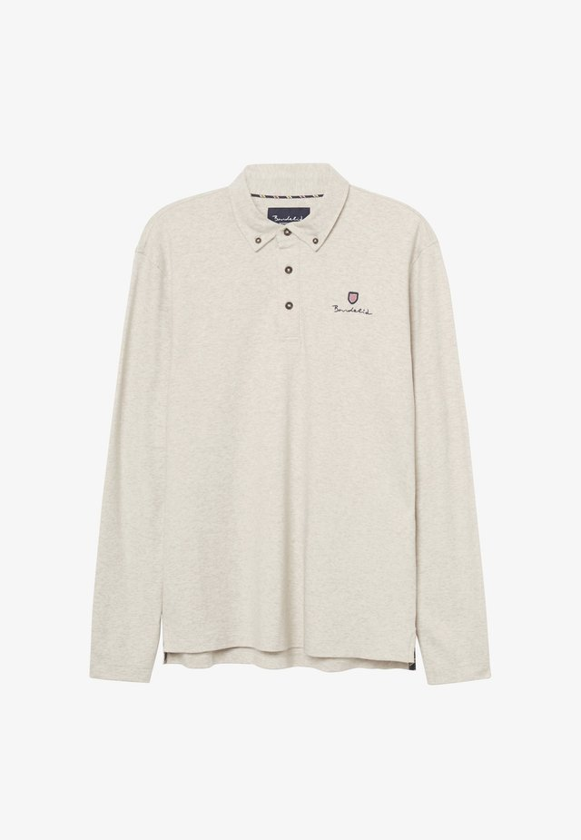 EASTMAN - Poloshirt - beige melange
