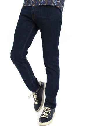 JEANS CON TASCA PERSONALIZZATA - Slim fit jeans - blu scuro