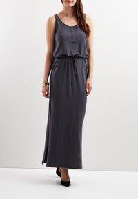 Object - OBJSTEPHANIE MAXI DRESS  - Maxi dress - asphalt - 0