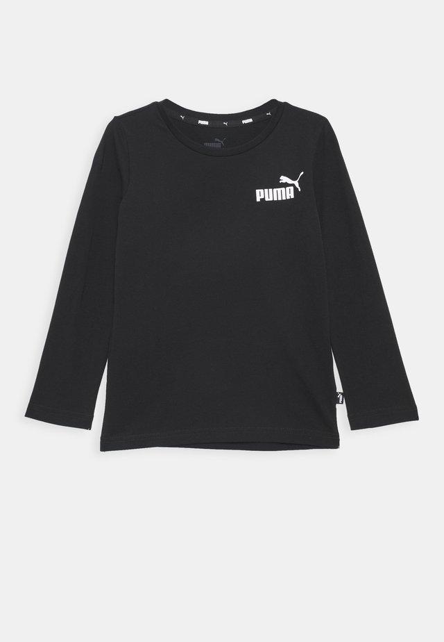 LOGO LONGSLEEVE  - Long sleeved top - cotton black