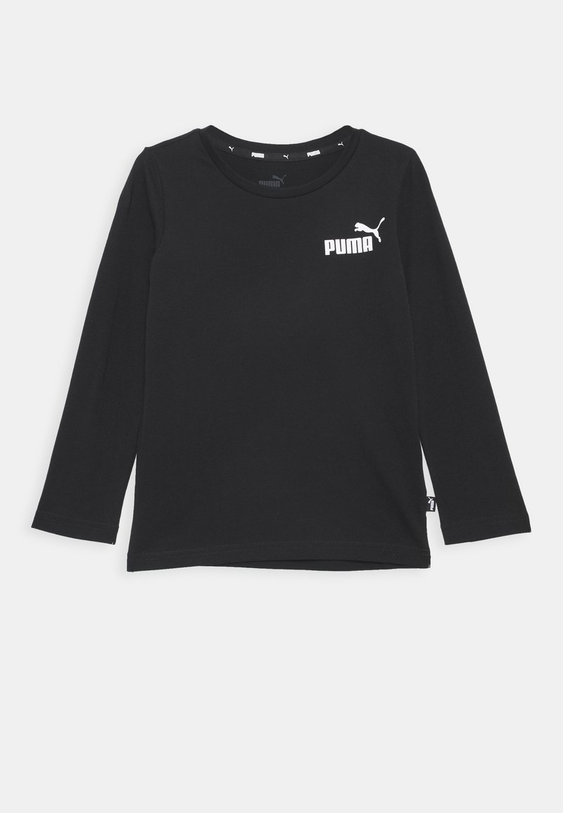 Puma - LOGO LONGSLEEVE  - Maglietta a manica lunga - cotton black