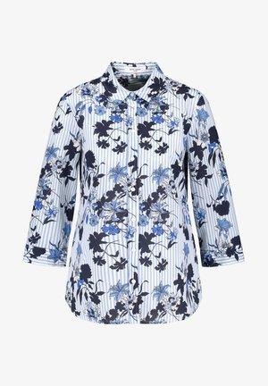 Button-down blouse - blau druck