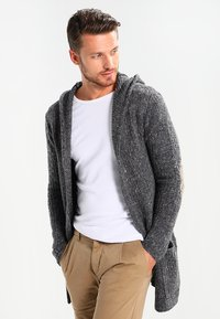 Key Largo - TERENCE HILL JACKET - Strickjacke - dark grey melange - 0