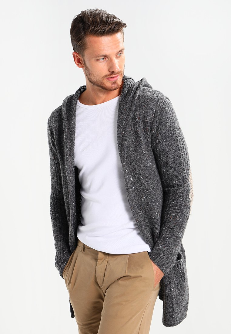 Key Largo - TERENCE HILL JACKET - Strickjacke - dark grey melange