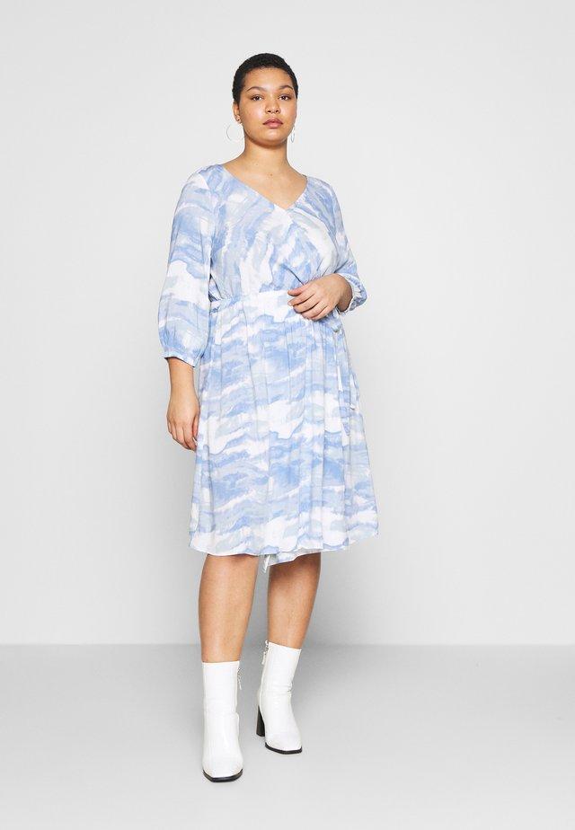 WRAP DRESS - Korte jurk - blue
