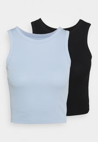 Even&Odd - 2 PACK  - Top - black/blue - 0