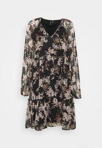 Vero Moda - VMFRIDA V NECK SHORT DRESS - Day dress - black - 4