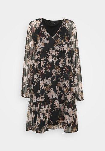 VMFRIDA V NECK SHORT DRESS - Day dress - black