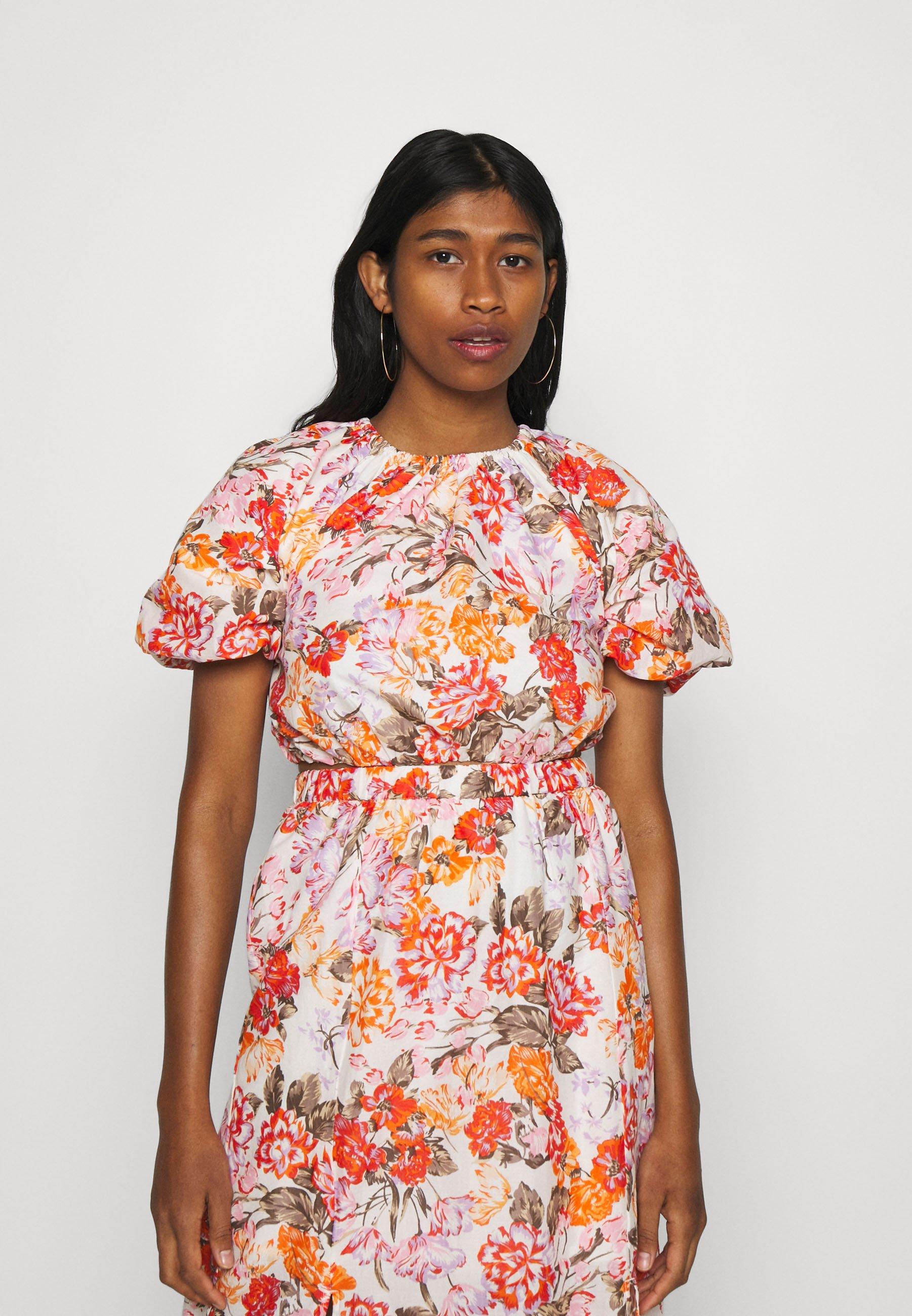 Women Long sleeved top - orange