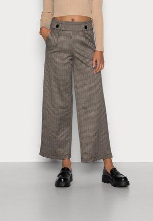 JDYGEGGO MIA LONG CHECK PANT - Trousers - cobblestone