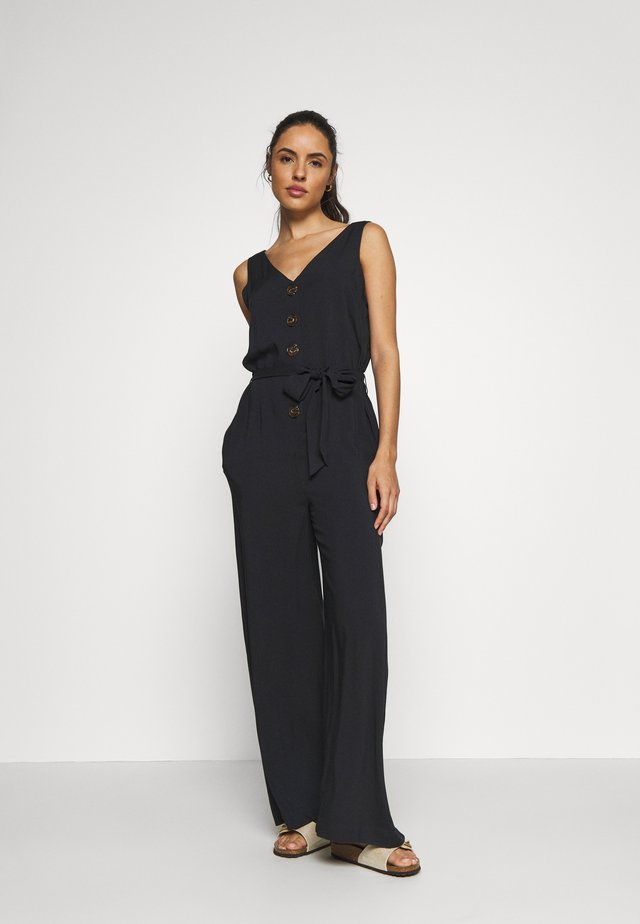 OVERALL THE BUTTON - Ranta-asusteet - black